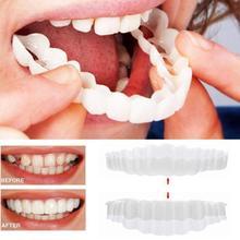 1Set Upper & Lower Teeth Simulation Brace Whitening Comfortable Whitening Cover Teeth Smile Teeth Veneers Instant Dentistry