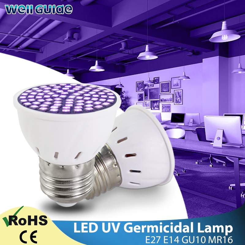 Ультрафиолетовый светильник UVC бактерицидная дезинфекционная Лампа AC 220V E27 Светодиодная лампа УФ стерилизатор Озон Светодиодный точечный светильник Kill Mite бактериальный|Ультрафиолетовые лампы|   | АлиЭкспресс