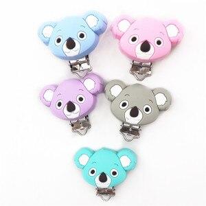 Image 2 - Chenkai Clips Koala en Silicone, 10 pièces, DIY pour bébé, anneau de dentition, sucette porte chaîne factice, attache sucette, jouet, sans BPA
