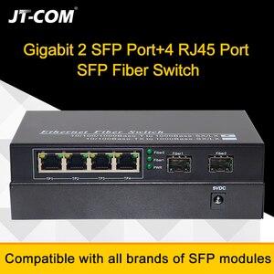 Image 3 - กิกะบิตอีเธอร์เน็ตสวิทช์ SFP ไฟเบอร์สวิทช์ 10/100/1000 Mbps ใยแก้วนำแสงแปลงสื่อ 2 * SFP ไฟเบอร์พอร์ตและ 2 4 8 RJ45 พอร์ต UTP 2G2 / 4 / 8E ไฟเบอร์อีเธอร์เน็ตสวิทช์