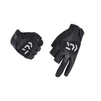 Czarne ciepłe rękawice wędkarskie PU s dla mężczyzn ochrona przeciwsłoneczna zimowe męskie wodoodporne rękawice wędkarskie specjalne wędkarskie wędkarskie rękawiczki rybackie tanie i dobre opinie yang10038jh Trwałe Trzy Wyciąć Palec