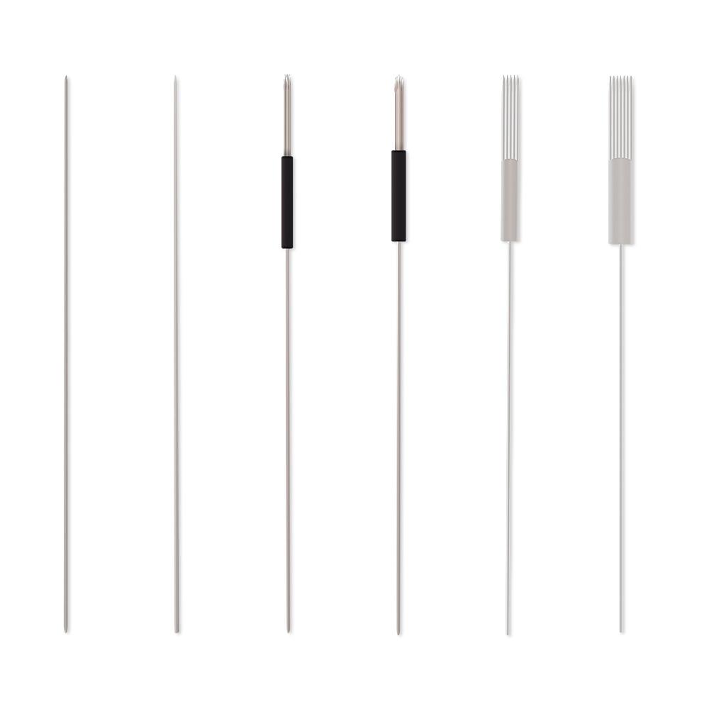 100pcs 1D/1R/3R/5R/5F/7F Sterilized Disposable Permanent Makeup Needles Tattoo Needles For Eyebrow Tattoo Makeup Kits