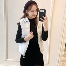 Fashion Women Warm Solid Hooded Vest Cotton Short Jacket Coat Vest  Slim Winter Warm Sleeveless Parkas Outwear Female Coat 9.3 недорого