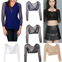 Женский бесшовный топ для коррекции фигуры с обеих сторон размера плюс, сетчатый бесшовный облегающий Топ, облегающий верх, рубашка, блузки, черный, белый, синий цвет