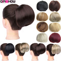 GIRLSHOW Synthetic Bride Hair Bun Donut Chignon Hair Piece Extension For Women Headwear 34 Colors