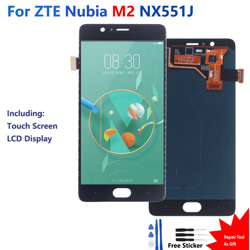Super Amoled For ZTE Nubia M2 Touch Screen LCD Display Digitizer Assembly ZTE Nubia M2 NX551J Touch Screen LCD Display(China)