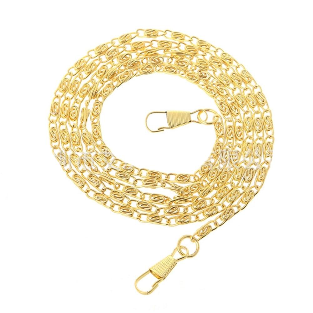 120cm Purse Accessories Multi Use Replacement Handbag Long Strap Durable Fashion DIY Retro Metal Bag Chain Hardware