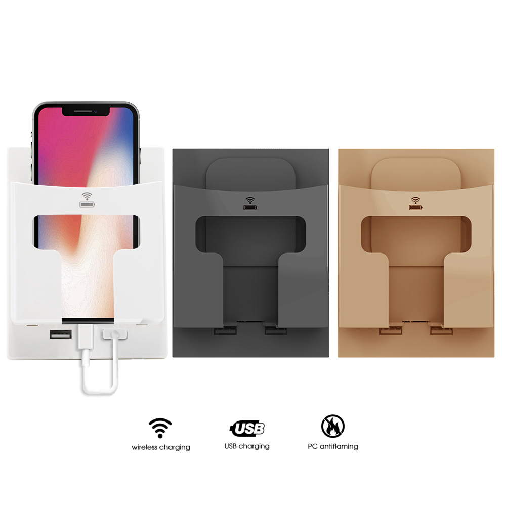 Wall Qi Wireless Charger Stand Holder 5W Dual USB For IPhone 11 Pro X XS 8 XR Samsung S9 S10 S8 S10E Fast Wireless Charging