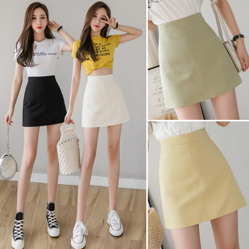 Heliar Bodycon Skirt PU Leather Sexy Skirt Women High Waist Sexy Highstreet Skirt Casual Lady's Mini Night Club Skirt For Women