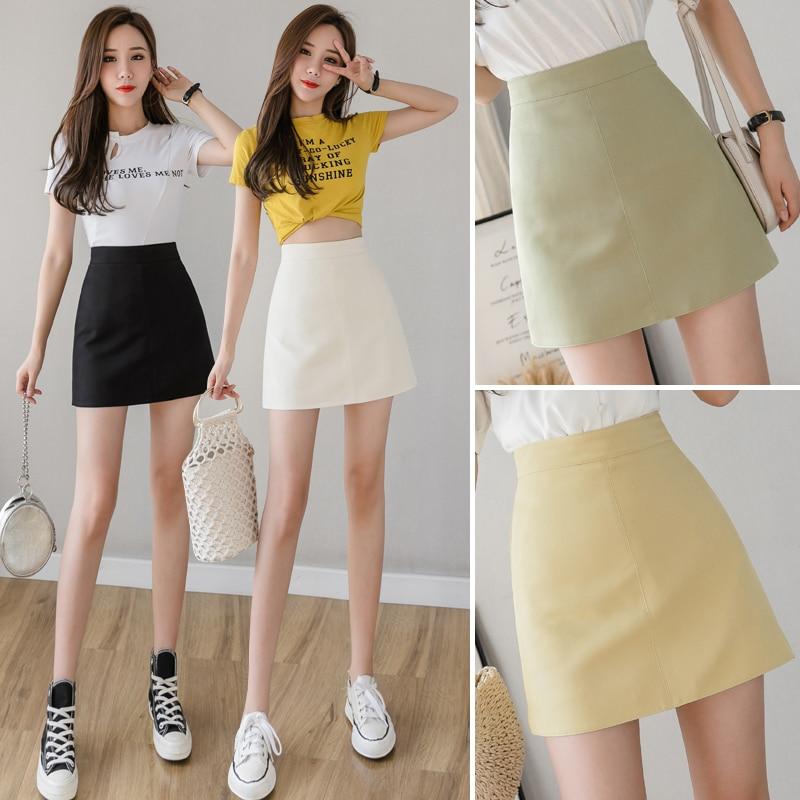 Heliar Bodycon Skirt PU Leather Sexy Skirt Women High Waist Sexy Highstreet Skirt Casual Lady's Mini Night Club Skirt For Women