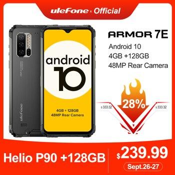 Перейти на Алиэкспресс и купить Ulefone Armor 7E прочный мобильный телефон Helio P90 + 128G смартфон 2,4G/5G WiFi водонепроницаемый IP68 глобальная версия Android 10 NFC/48MP