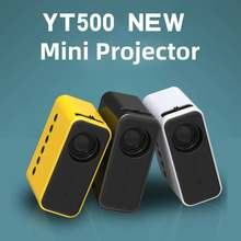 YT500 Home Mini Projector Miniature Children's Family Portable HD LED Mobile Projector 18W LED proyector 10-60 inch 1080P