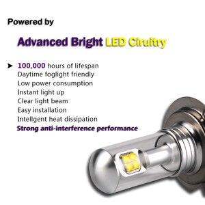 Image 2 - NOVSIGHT 2Pcs H7หลอดไฟLedหมอกไฟ3000LM 6000K 12VสีขาวDRL Daytime Runningโคมไฟรถยนต์อัตโนมัติlight D45