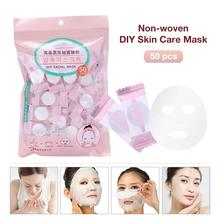 Wholeshale 50PCS DIY Compressed Mask Disposable Facial Cleaning Mask Non-woven DIY Face Skin Care Mouisturing Mask Cotton недорого