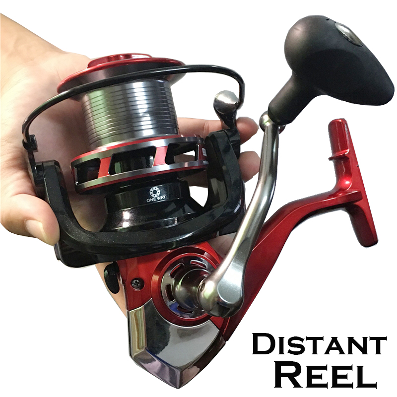 LIEYUWANG High quality Large AST Fishing Reel Distant Wheel Metal CNC Rocker Spinning reel Mix Drag casting reel carp fishing