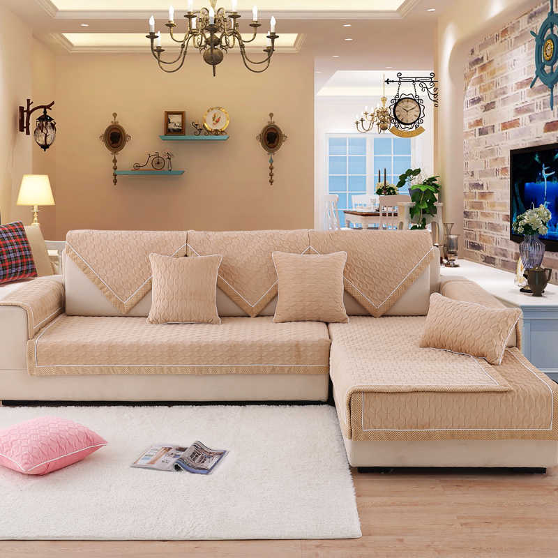 Sofa Cover Super Soft Short Plush
