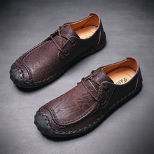 Men Casual Shoes Handmade Leather Loafers Italy Rome Soft  Quality Split Flat Moccasins Sneakers
