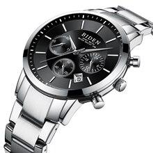 CURREN Men Business Classic Male Watches Silver Stainless Steel Mens Reloj Hombre Shock Resistant Date Waterproof Quartz