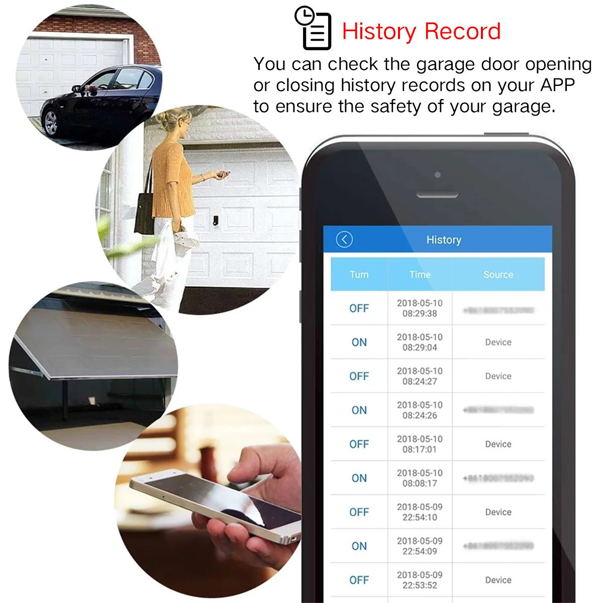 H958f6ef8bc0c4a03bd8e51817c001d94i 1Set WiFi Switch Smart Home Garage Door Opener Controller For eWeLink APP Phone Voice Control for Amazon Alexa for Google Home