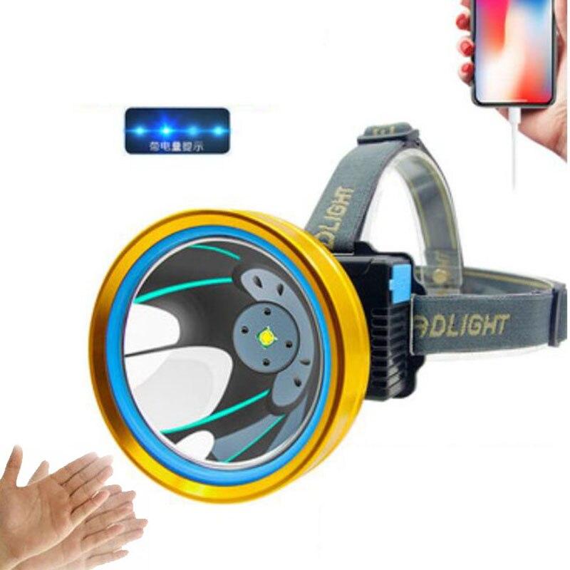 High Power T6 Led Headlamp Usb Rechargeable Sensor Fishing Frontal Cycling Flashlight Headlight Head Torches  Camping Lighting