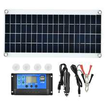 15W Polycrystalline Flexible Solar Panel Battery Charger Kit with 10A Controller Double USB Port for Mobile Phone Charging(China)