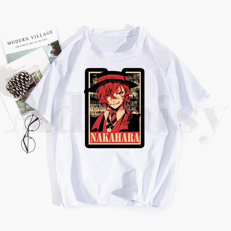 Bungou Stray Dogs Osamu Dazai Anime T Shirts Tops Tees Men Women Short Sleeve Casual T Shirt Streetwear Funny