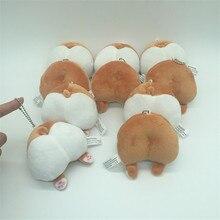 Mignon Corgi peluche petit pendentif nouveauté chien cul sac pendentif créatif cadeau astuce nouveauté drôle jouets