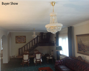 Image 3 - Phube Lighting French Empire Gold Crystal Chandelier Chrome Chandeliers Lighting Modern Chandeliers Light+Free Shipping!