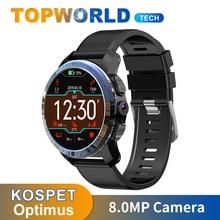 KOSPET reloj inteligente Optimus, 2GB + 16GB, IP67, resistente al agua, WIFI, cámara de 8.0MP, sistemas duales, 800mAh, GPS, 4G, Android