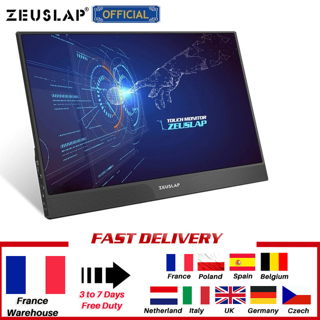 15.6inch touch panel portable monitor usb type c HDMI-compatible computer touch monitor for ps4 switch xbox one laptop phone 2