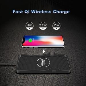Image 3 - QI המכונית מהיר אלחוטי מטען מחזיק עבור iPhone X XR 11 XS מקס סמסונג S8 S9 S10 אלחוטי מטען לרכב רכב Pad C7