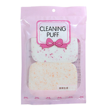 2Pcs Sponge Puff Soft Facial Cleansing Face Makeup Wash Pad Cleaning Pro Sponge Puff New Random Color Exfoliator Cosmetic Tool