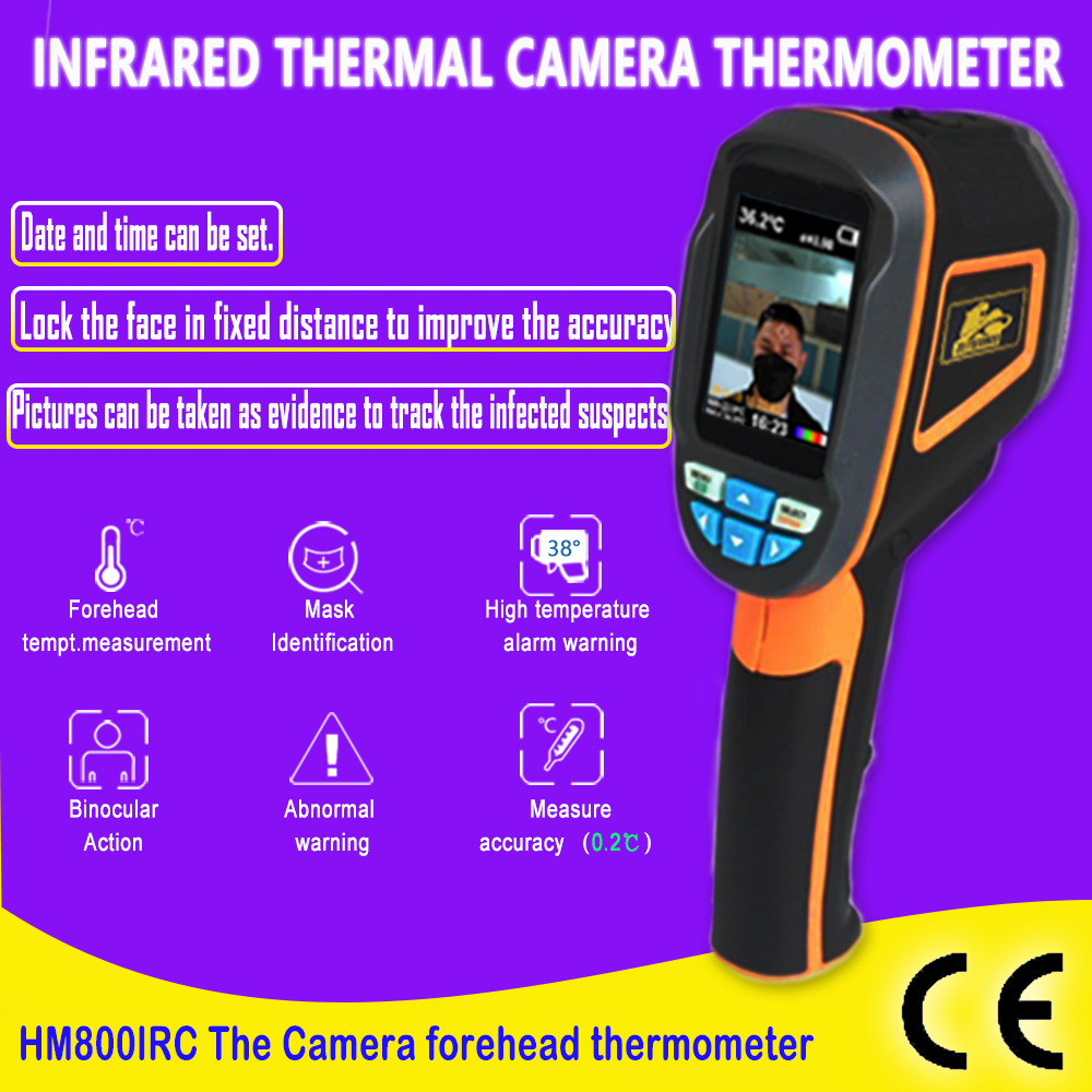 Dual Visual Thermal Imaging Infra-red Thermoscope With Abnormal Temperature Alarm Fever Warning Smart Thermometer Thermal Camera