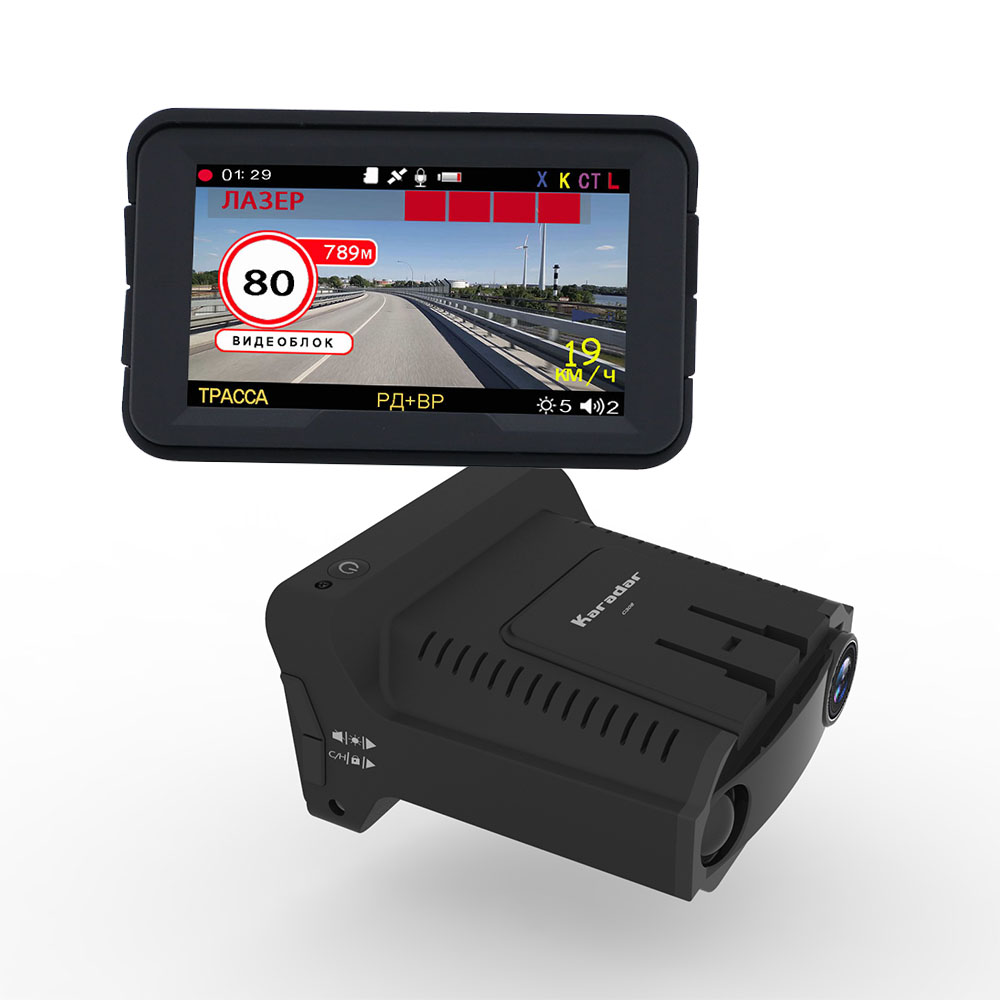 3-In-1 Car-Dvr Logger Radar-Detector Gps-Camera 3inch for Russia Ips-Display