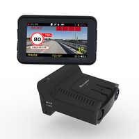 Détecteur de Radar 3 en 1 voiture DVR GPS caméra enregistreur tableau de bord détecteur de Radar 3 pouces IPS affichage pour la russie Laser 1080p détecteur