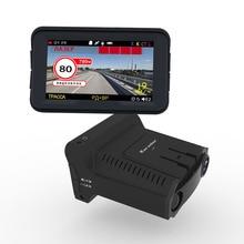 Detector de Radar 3 en 1 coche DVR GPS Cámara registradora Dash Cam Detector de Radar 3 pulgadas pantalla IPS para Rusia láser 1080p Detector