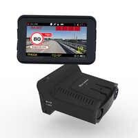 Detector de Radar 3 en 1 para coche DVR GPS Cámara registradora cámara de salpicadero Detector de Radar pantalla IPS de 3 pulgadas para Rusia láser 1080p Detector