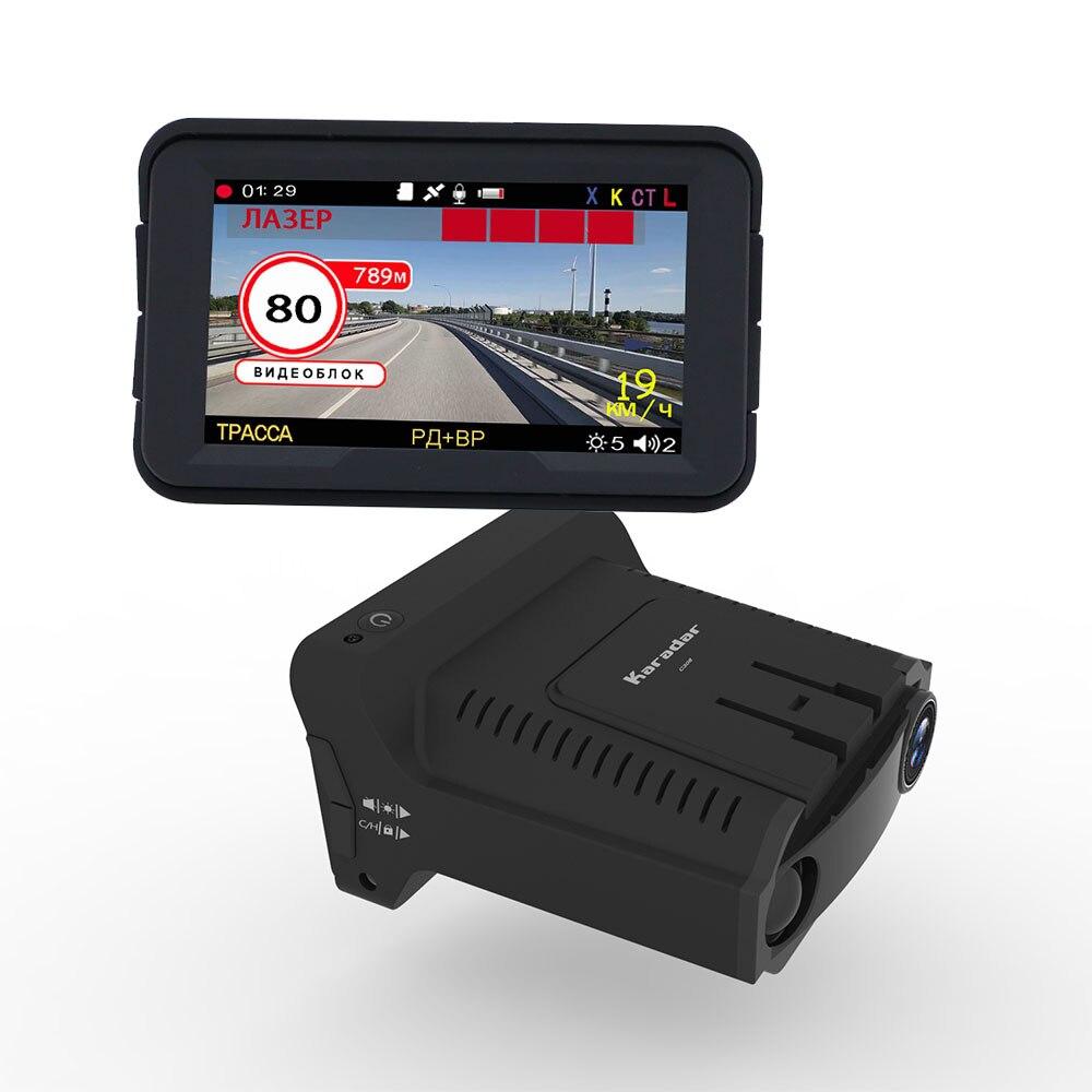 Detector de radar 3 em 1 câmera do carro dvr gps registrador traço cam detector de radar 3 polegada ips display para a rússia laser 1080p detector