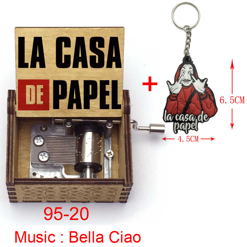 Biscount The Paper House La Casa De Papel Music Box Antique Carved Music Box Hand Crank Wooden Musical Box Toy