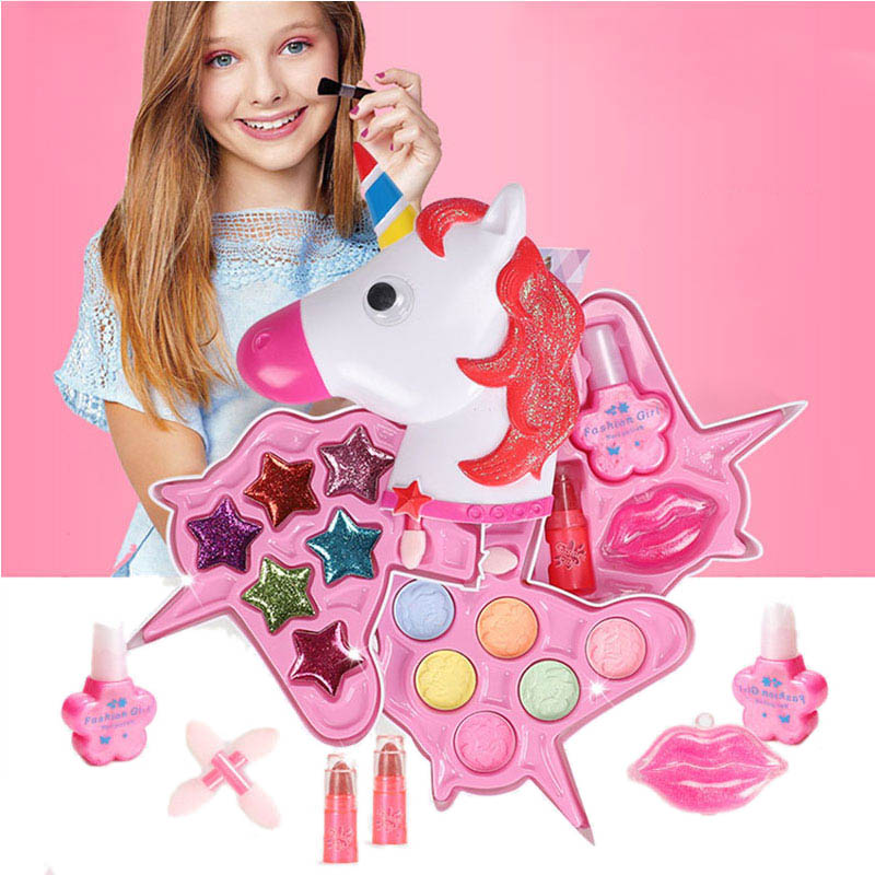 Preschool Beauty Kids Makeup Princess Tools Set Simulation Baby Make Up Polish Box Cosmetics Kit Gift Toys Girls Doux Bebe