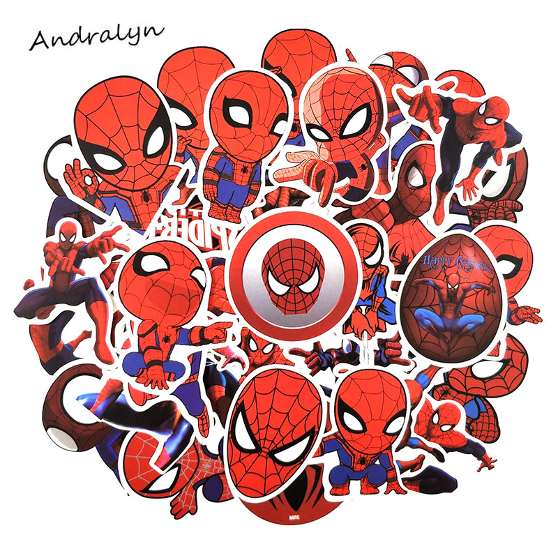 35 Pcs/pack Marvel Comics Film Spider-Man Homecoming Stickers For Toys Skateboard Motorcycle Luggage Laptop Superhero Sticker