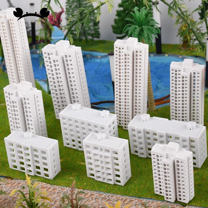 1/500 1/800 scale DIY model train scene buildings model making materials plastic real estate HO train kits