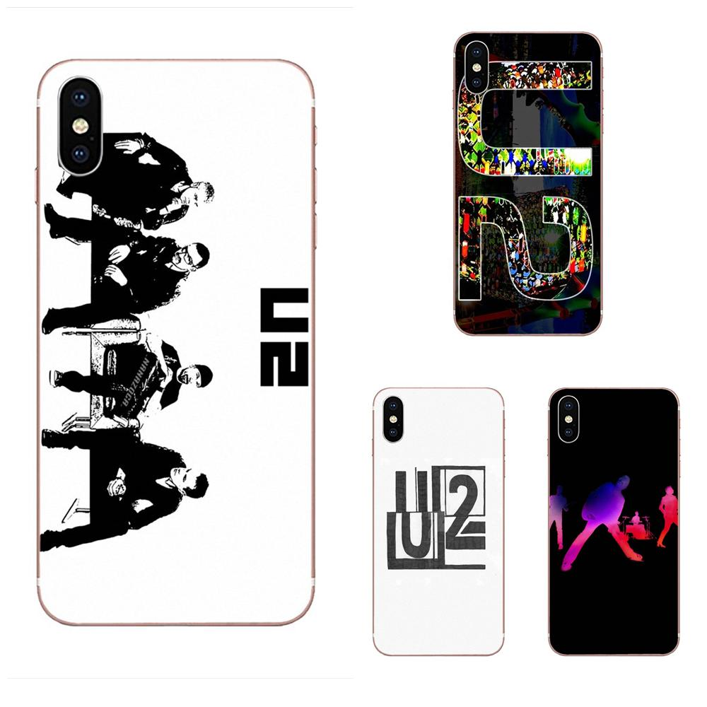 U2 Black And White Logo Mobile Phone Case Cover For Apple iPhone 11 Pro XS Max XR X 8 7 6 6S Plus 5 5S SE 4 4S image