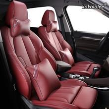 Kokolee housses de siège de voiture en cuir personnalisées, pour BMW série 3/4 E46 E90 E91 E92 E93 F30 F31 F34 F35 G20 G21 F32 F33 F36