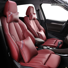Kokololee Tùy Chỉnh Da Bọc Ghế Xe Ô Tô Cho Xe BMW 3/4 Series E46 E90 E91 E92 E93 F30 F31 F34 F35 G20 g21 F32 F33 F36 Ghế Ô Tô