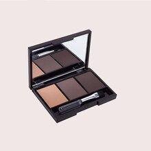 Профессиональная Палетка пудры для бровей, 3 цвета, Косметический Водонепроницаемый инструмент для макияжа с кисточкой, зеркало TU45889