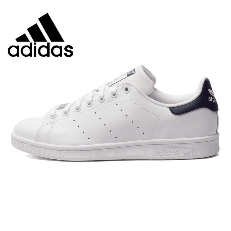 <font><b>Original</b></font> <font><b>Adidas</b></font> Clover StanSmith Men and <font><b>Women</b></font> Skateboarding Shoes Black Logo Sneakers Comfortable Non-slip Footwear M20325 image