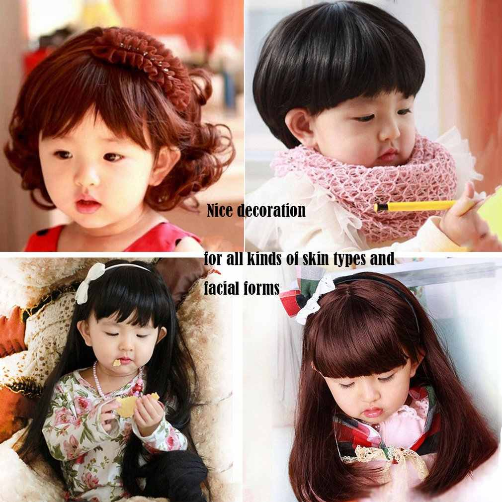 Lovely Adorable Boys Girls Hair Wig Full Head Children Wigs Cute Kids Daily Wearing Hairpiece For 5-10 Years Old