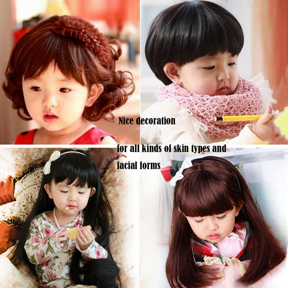 Wigs Hairpiece Daily-Wearing Girls Full-Head Kids Children Cute for 5-10-Years-Old Boys title=