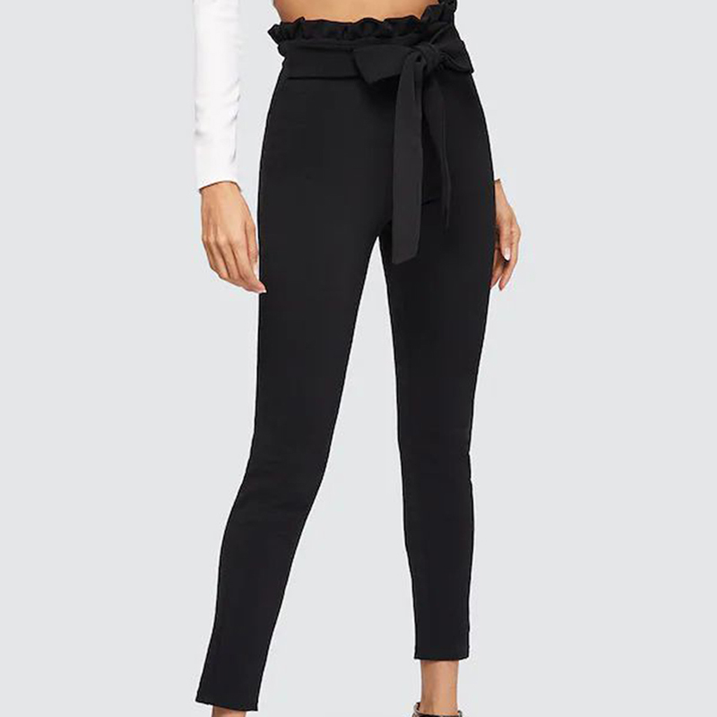 women's Nine-point Tight Pants Slim Trousers High Waist 19 Autumn And Winter Pencil Pant New Tights Plus Size Pants 5